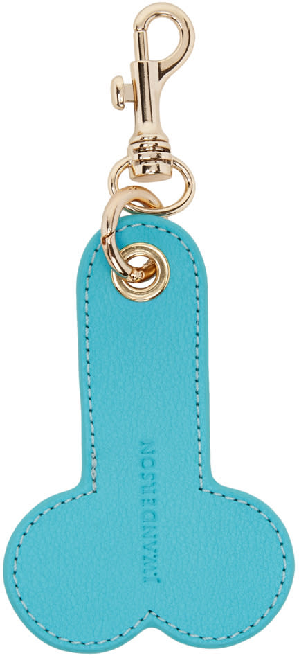 J.w. Anderson Blue Penis Keychain