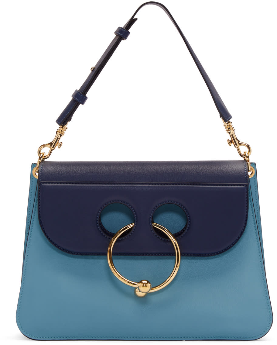 J.w. Anderson Blue Medium Pierce Bag
