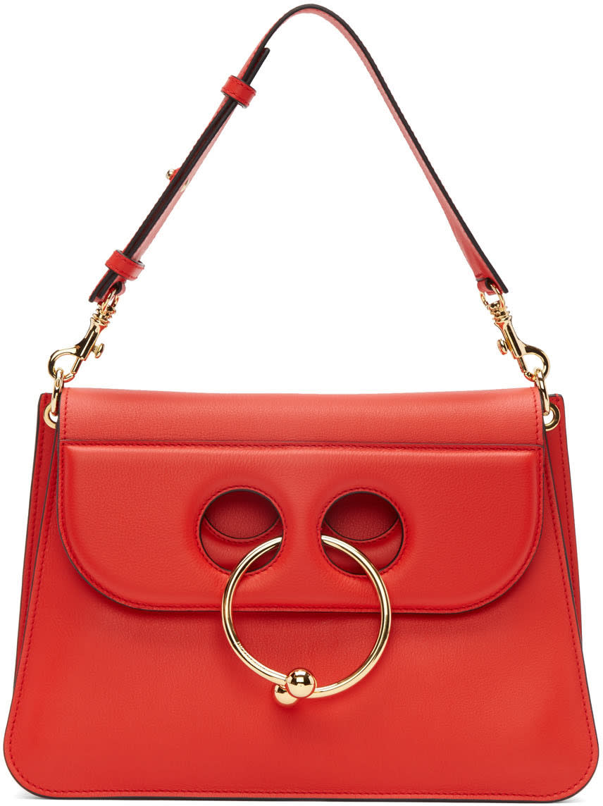 J.w. Anderson Red Medium Pierce Bag