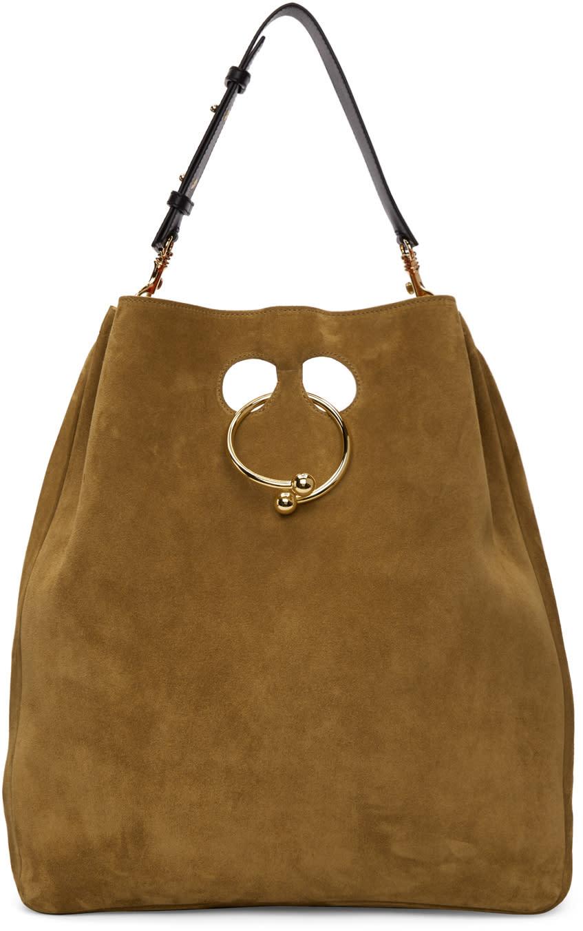 J.w. Anderson Tan Large Pierce Hobo Bag