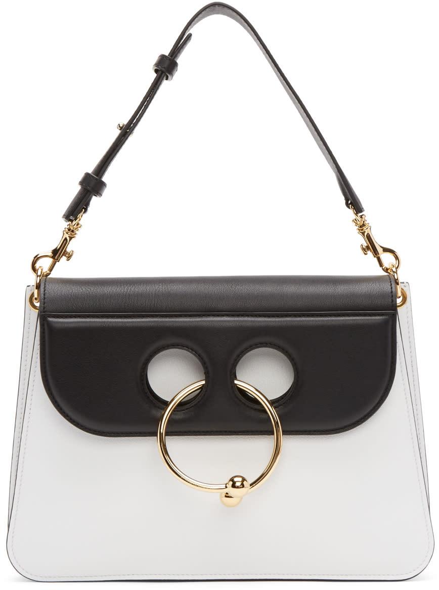 J.w. Anderson Black and White Medium Pierce Bag