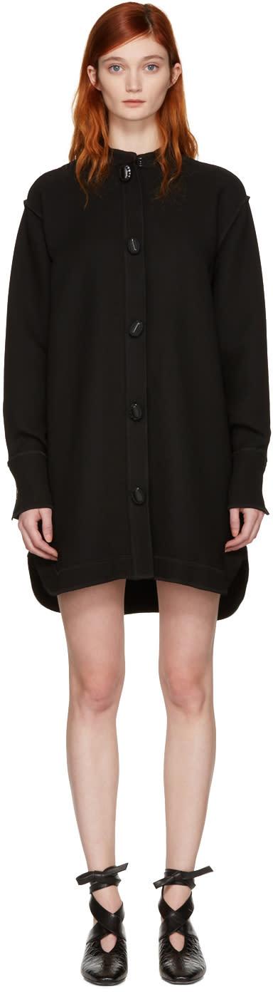 J.w. Anderson Black Oversized Shirt Dress