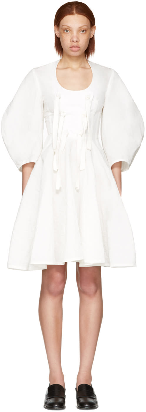 J.w. Anderson White Front Knot Dress