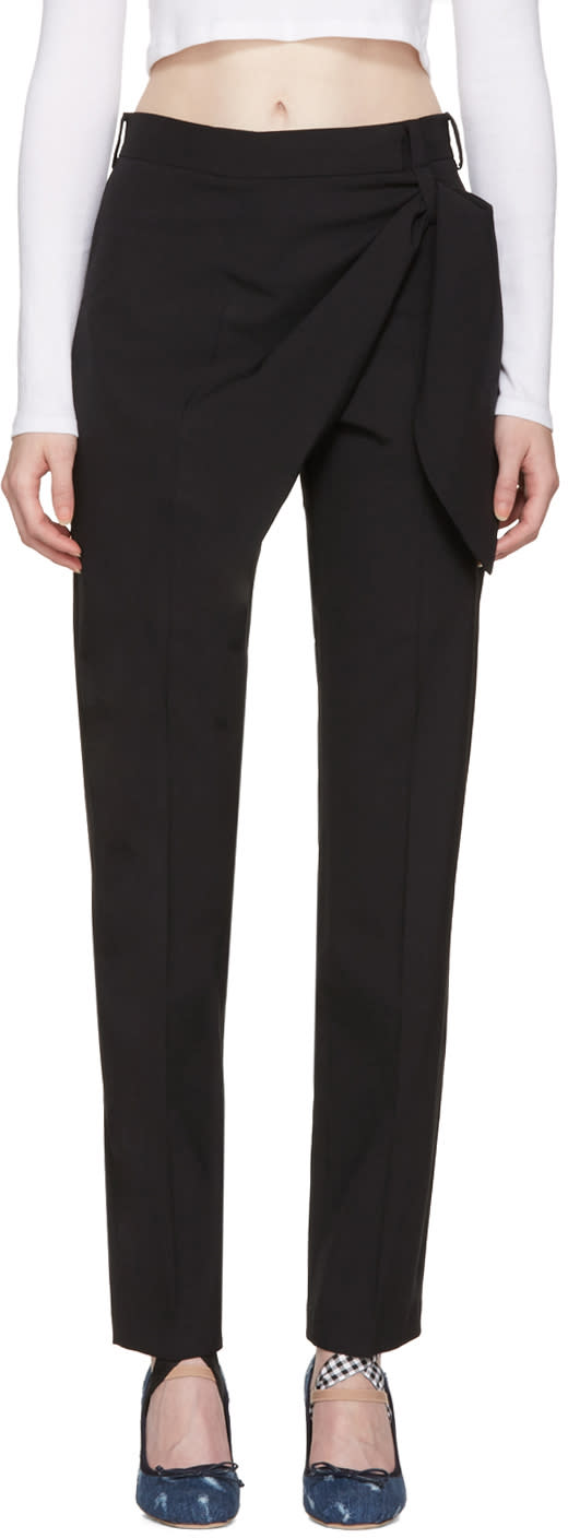 J.w. Anderson Black Single Knot Trousers