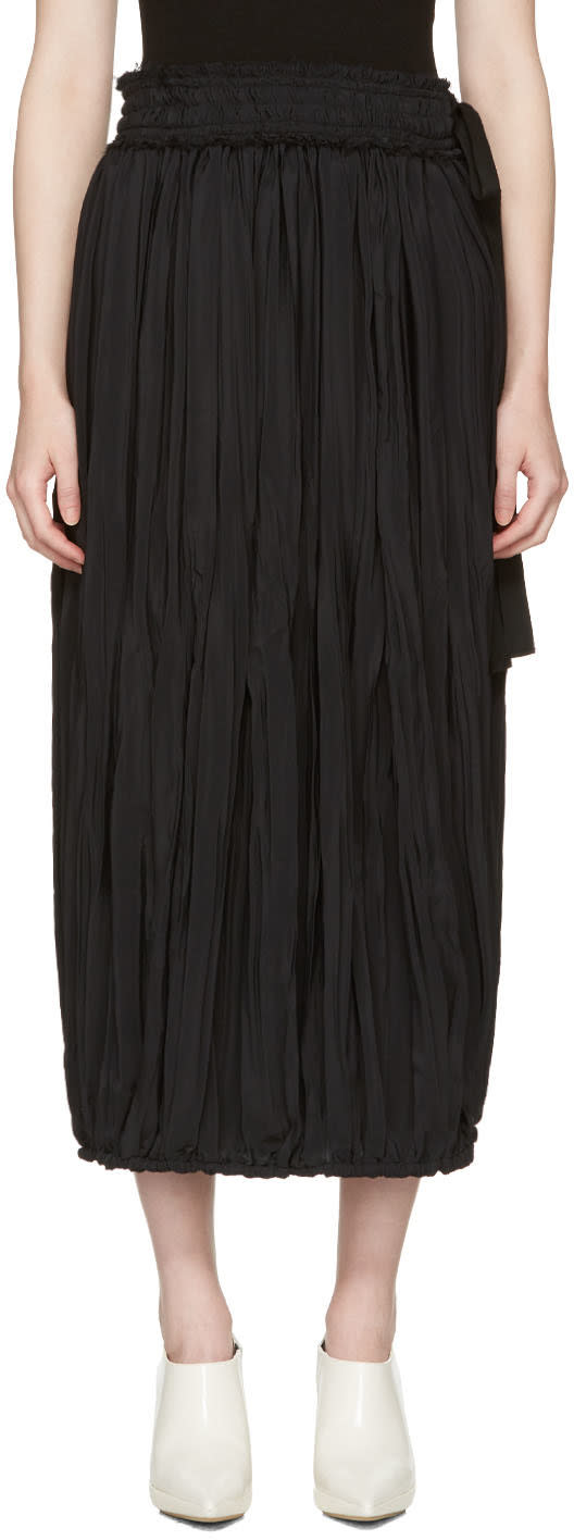 J.w. Anderson Black Pleated Skirt