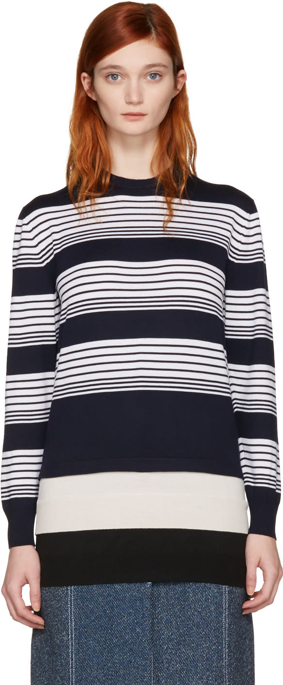 J.w. Anderson Navy Layered Pullover