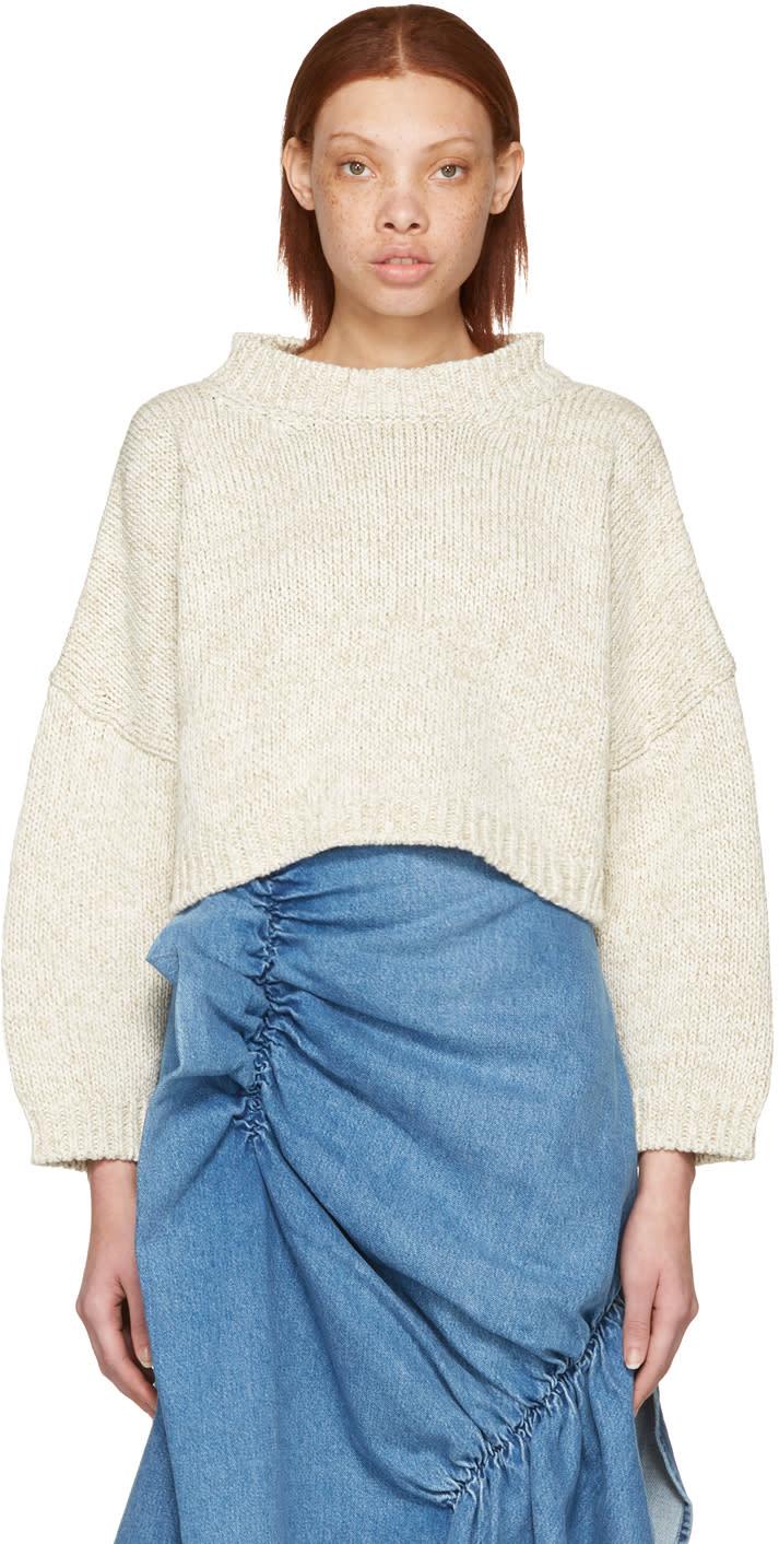 J.w. Anderson Beige Tie Back Sweater