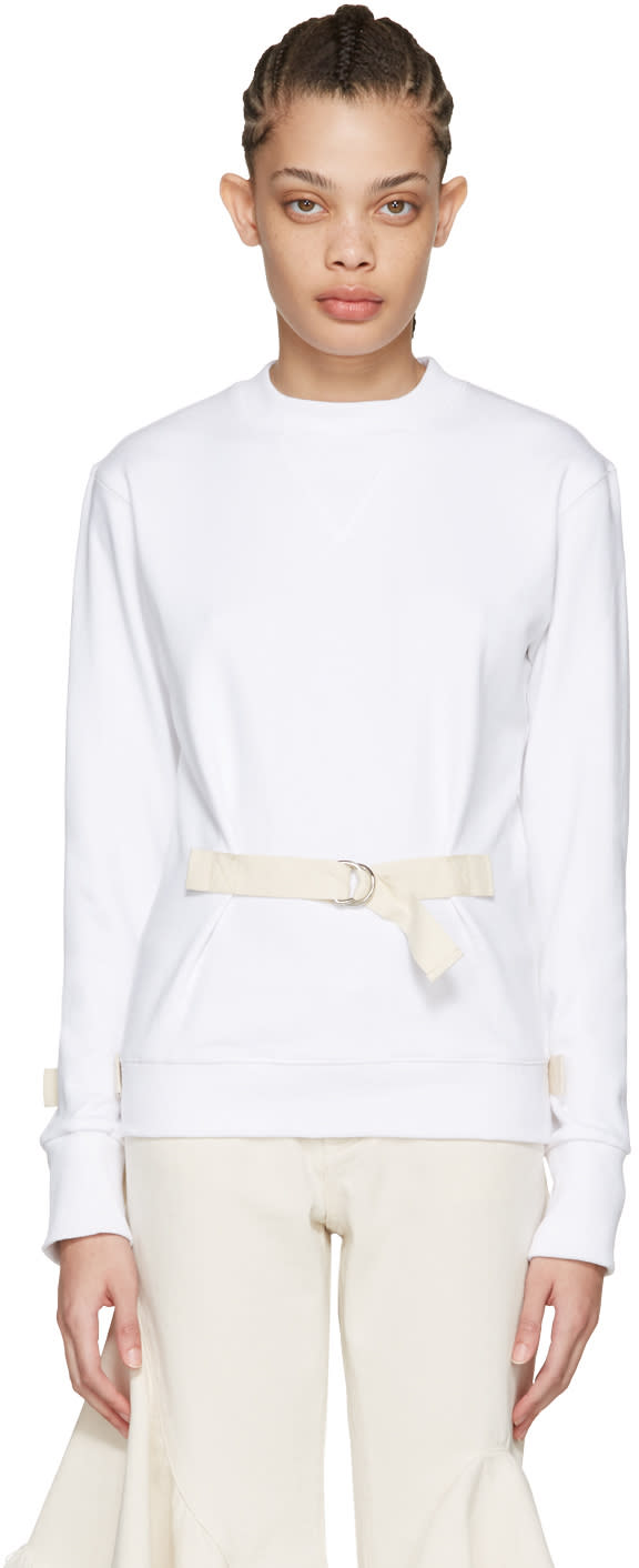 J.w. Anderson White D-ring Pullover
