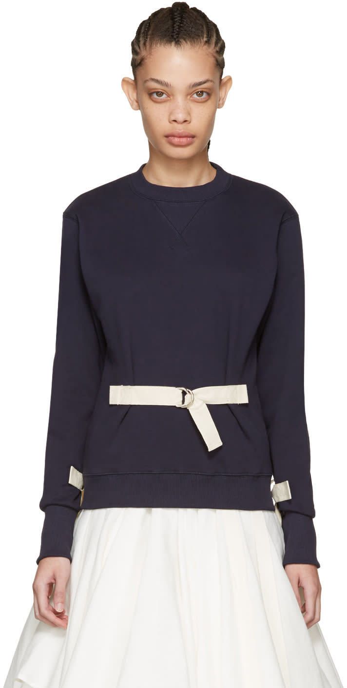 J.w. Anderson Navy D-ring Pullover