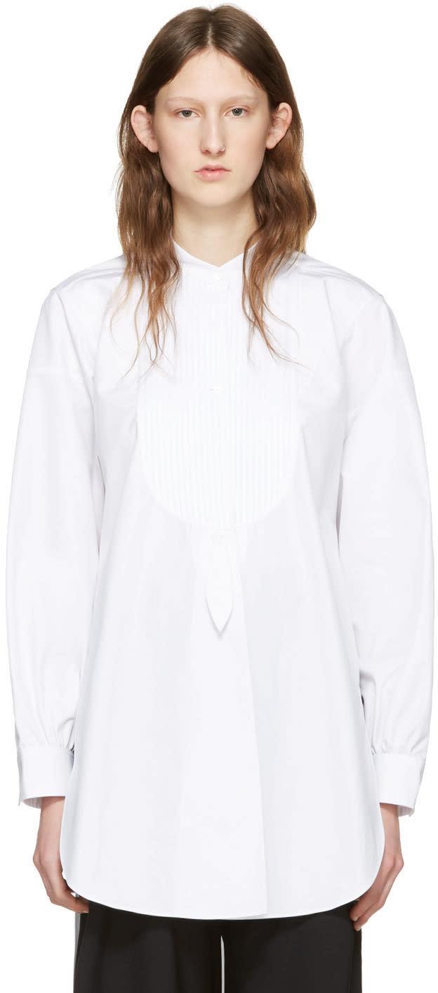 J.w. Anderson White Cotton Plisse Shirt