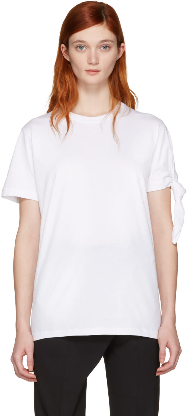 J.w. Anderson White Single Knot T-shirt