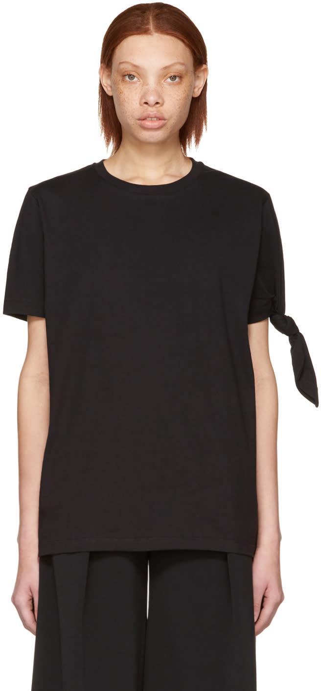 J.w. Anderson Black Single Knot T-shirt