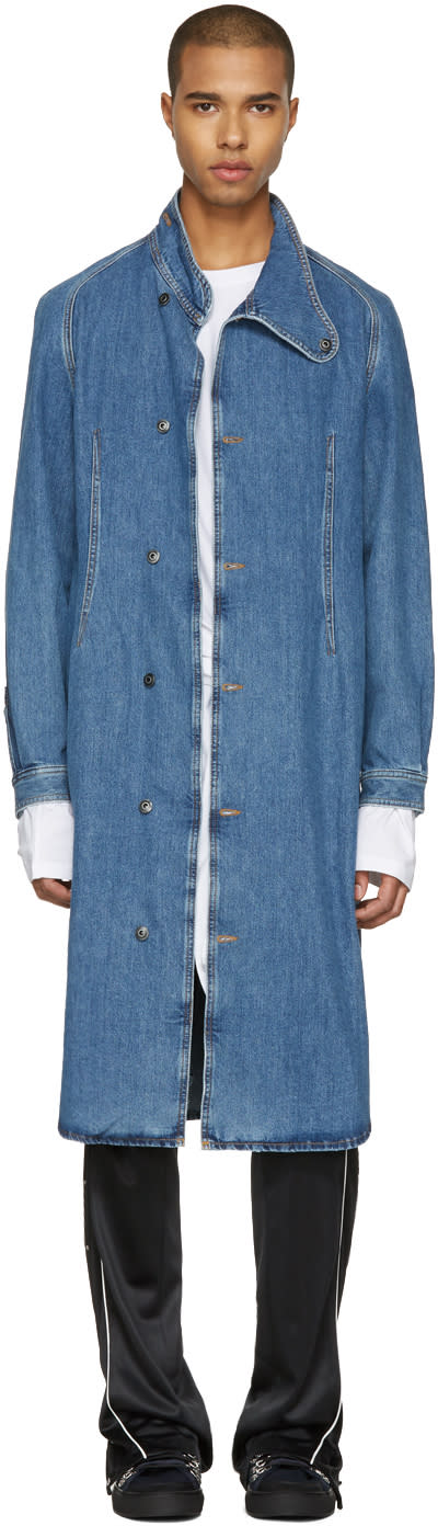 J.w. Anderson Indigo Denim Coat