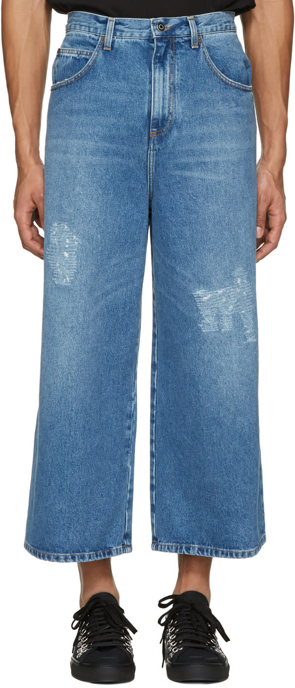 J.w. Anderson Blue Loose Fit Jeans