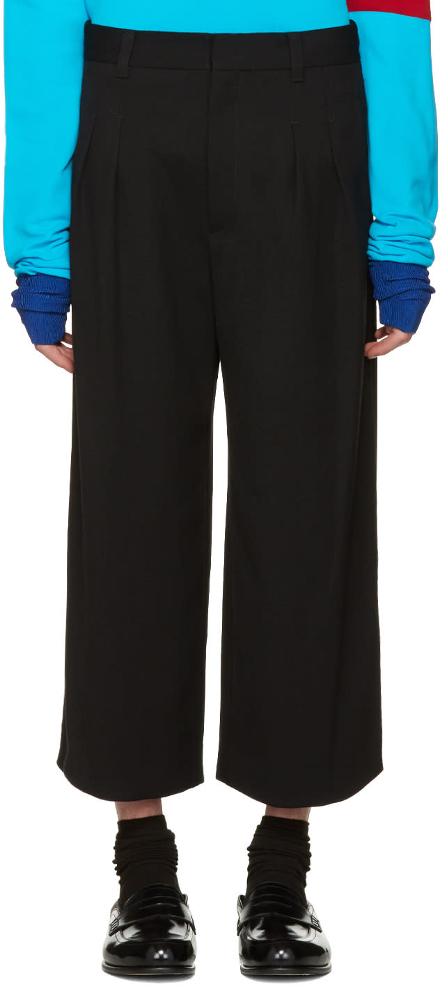 J.w. Anderson Black Loose Fit Trousers
