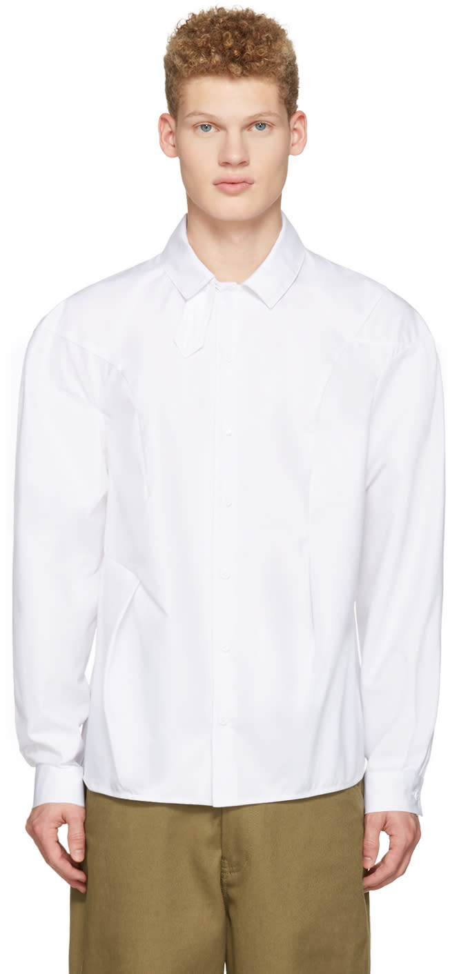 J.w. Anderson White Bold Shoulder Shirt