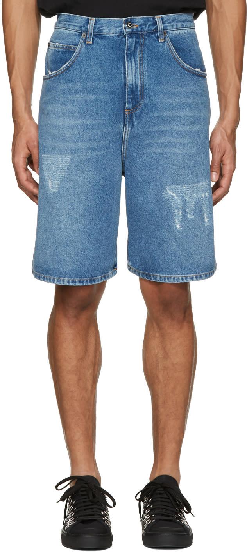 J.w. Anderson Blue Denim Shorts