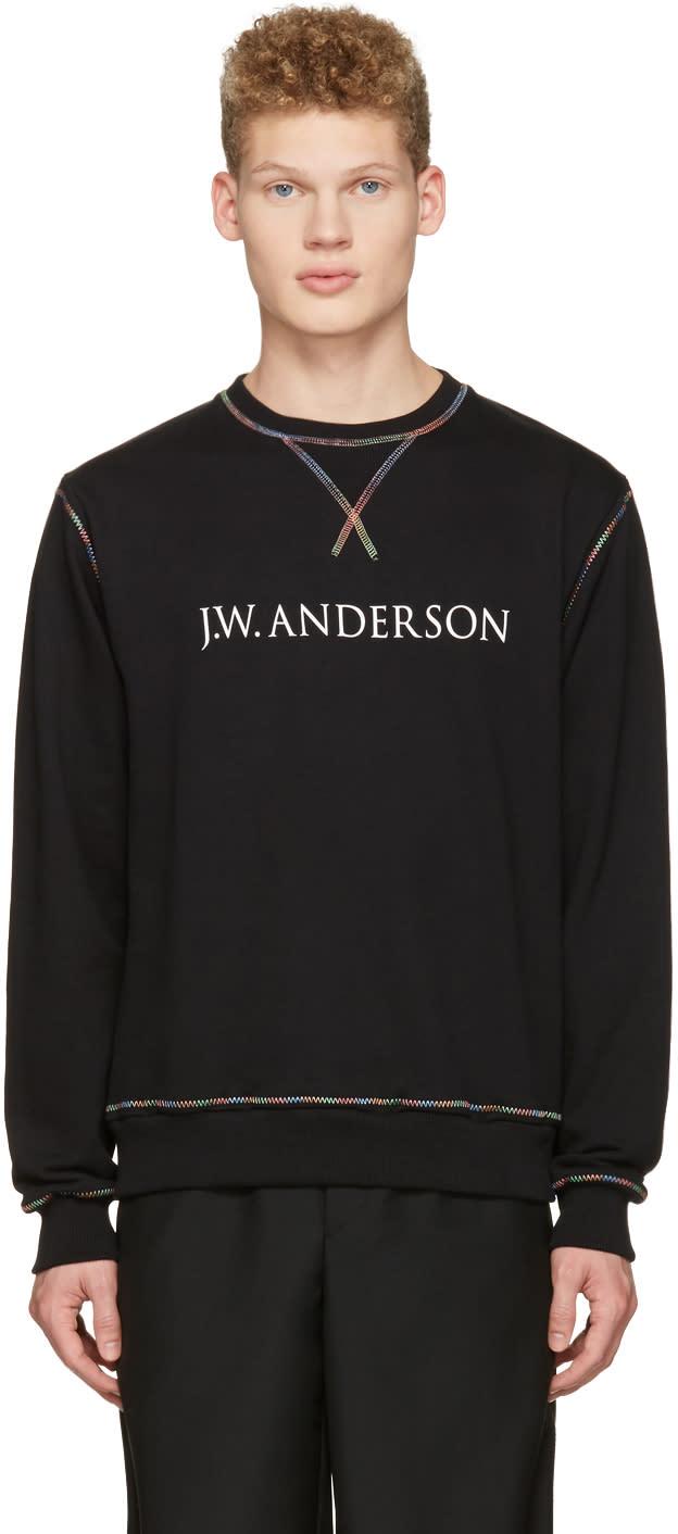 J.w. Anderson Black Rainbow Stitch Logo Pullover