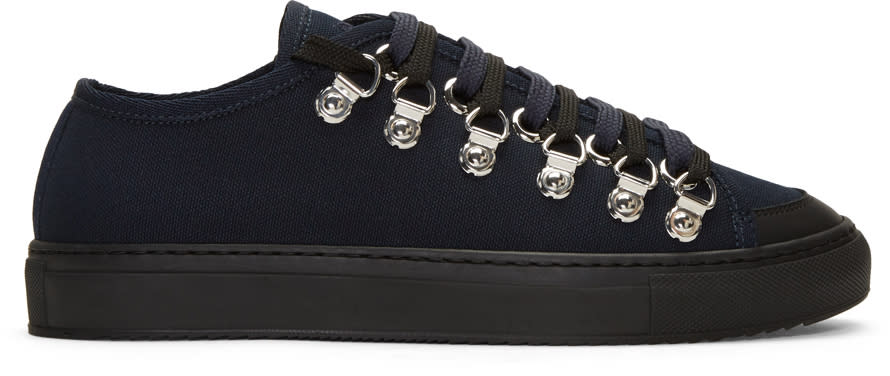 J.w. Anderson Navy Canvas Sneakers
