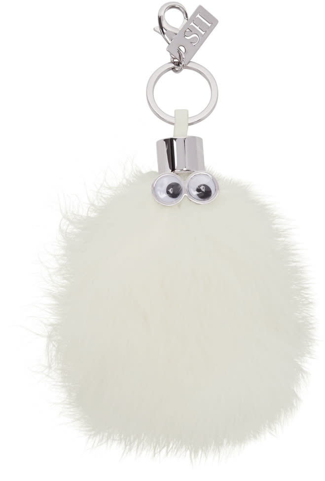 Sophie Hulme White Casper Feather Keychain