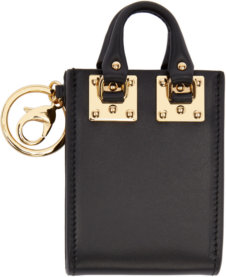 Image of Sophie Hulme Black Albion Tote Keychain