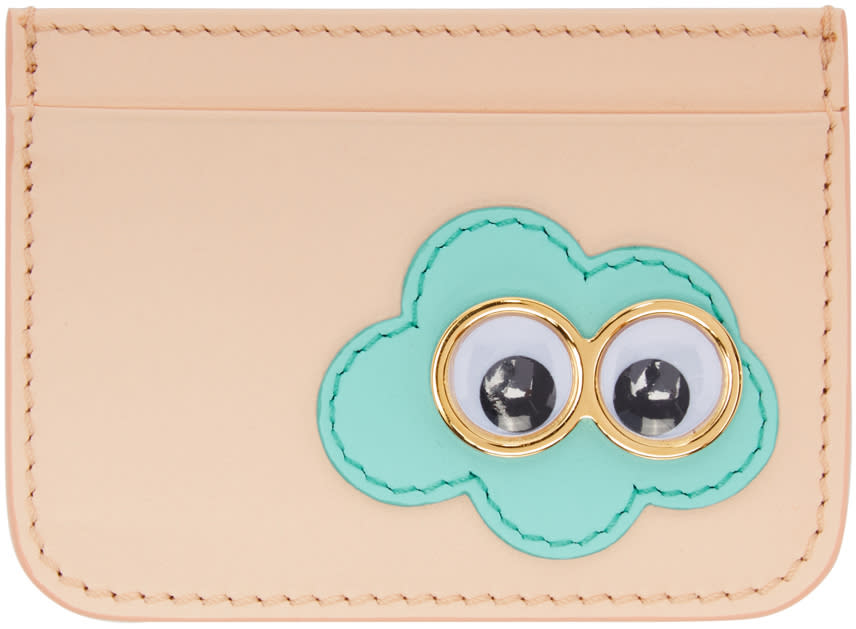 Sophie Hulme Ssense Exclusive Pink Cloud Rosebery Card Holder