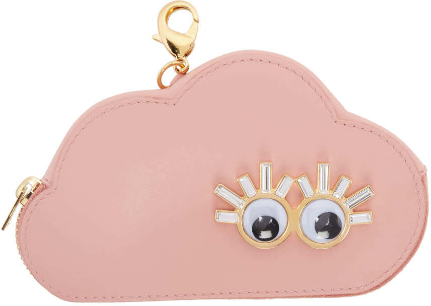 Sophie Hulme Pink Cloud Coin Pouch