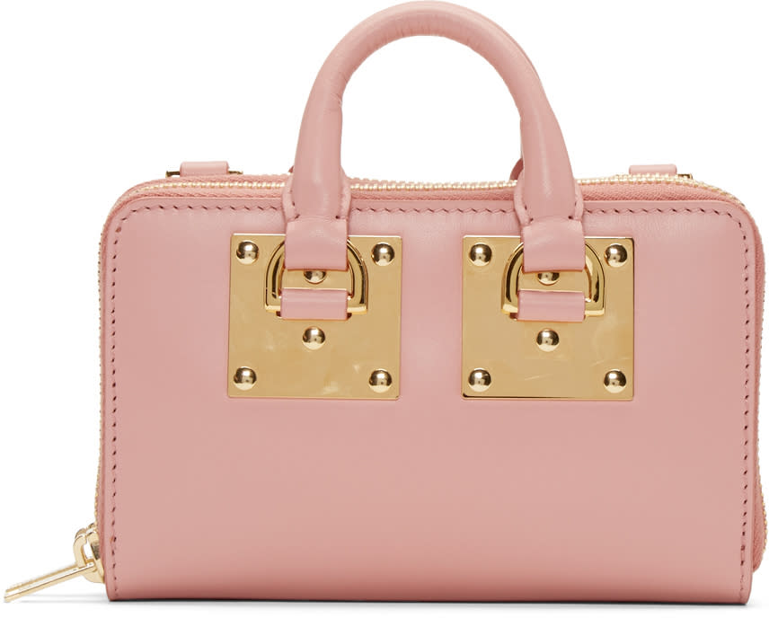 Sophie Hulme Pink Medium Albion Double Zip Wallet Bag