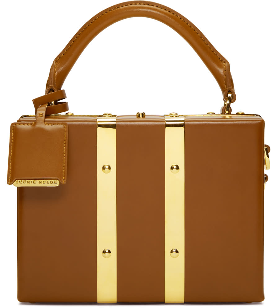Sophie Hulme Tan Mini Albany Suitcase Bag