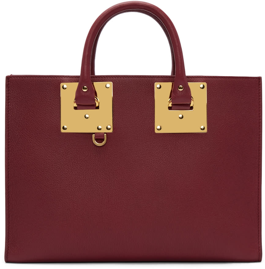 Sophie Hulme Burgundy Albion East West Tote