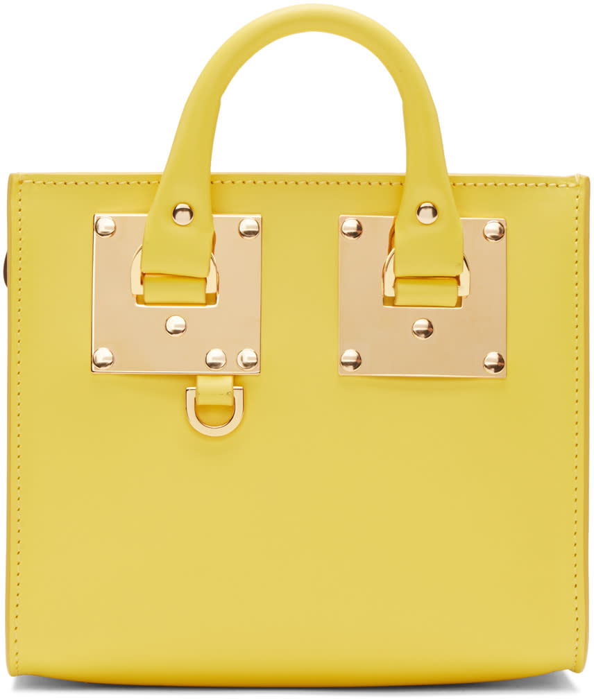 Sophie Hulme Yellow Albion Box Tote