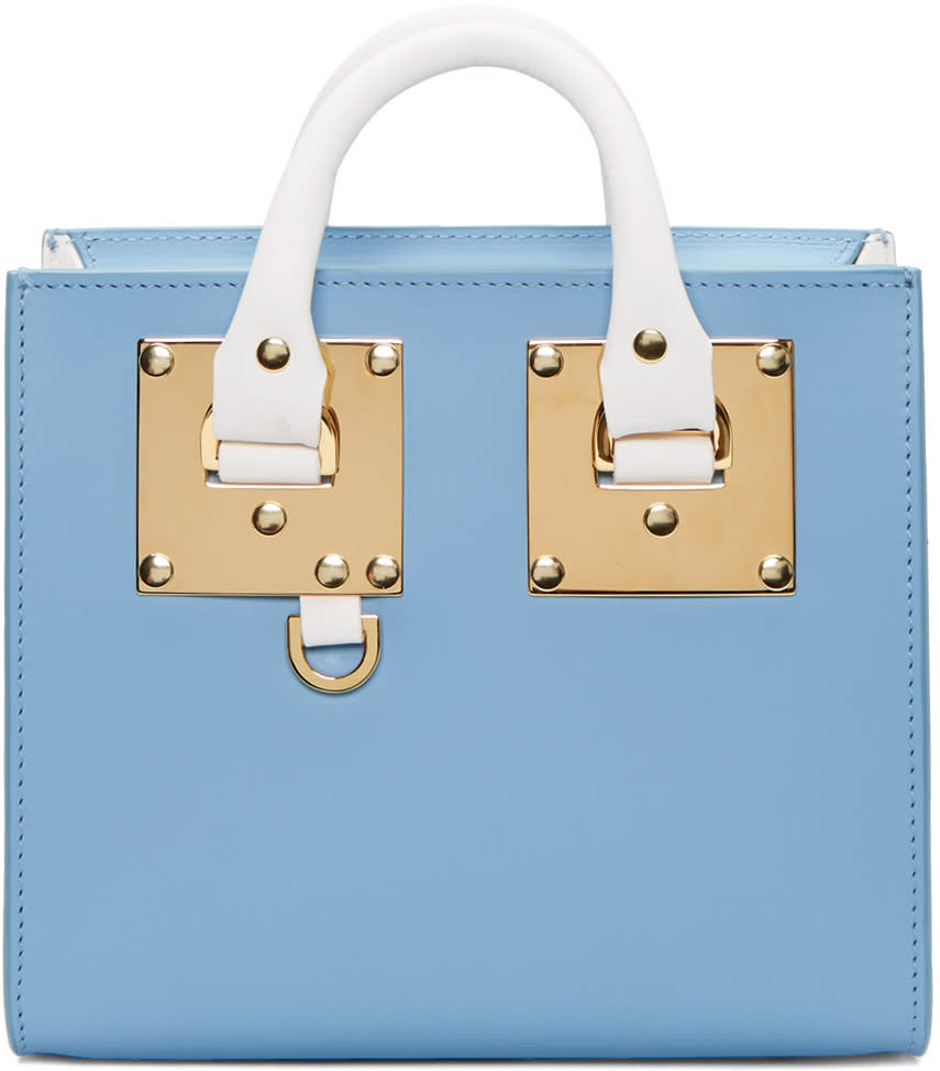 Sophie Hulme Ssense Exclusive Blue and White Albion Box Tote