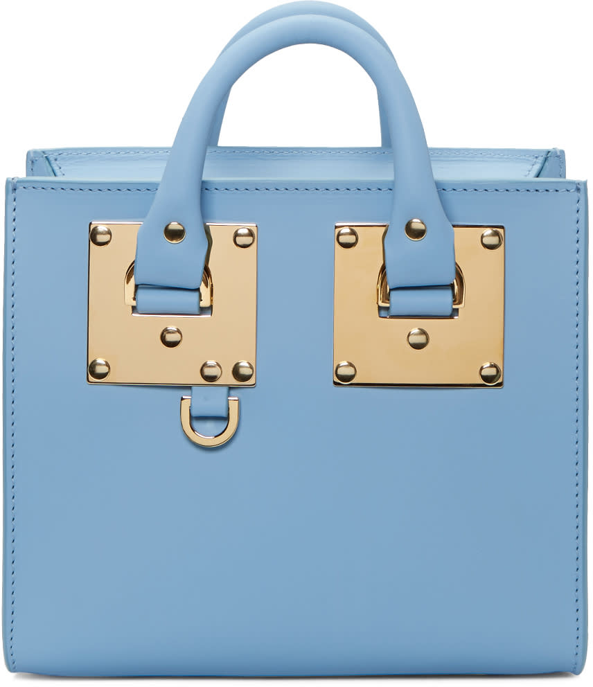 Sophie Hulme Ssense Exclusive Blue Albion Box Tote