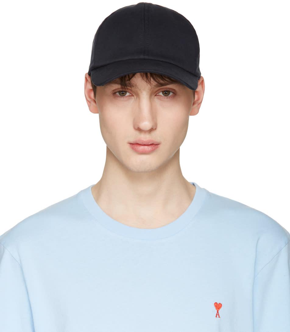 Ami Alexandre Mattiussi Navy Cotton Cap