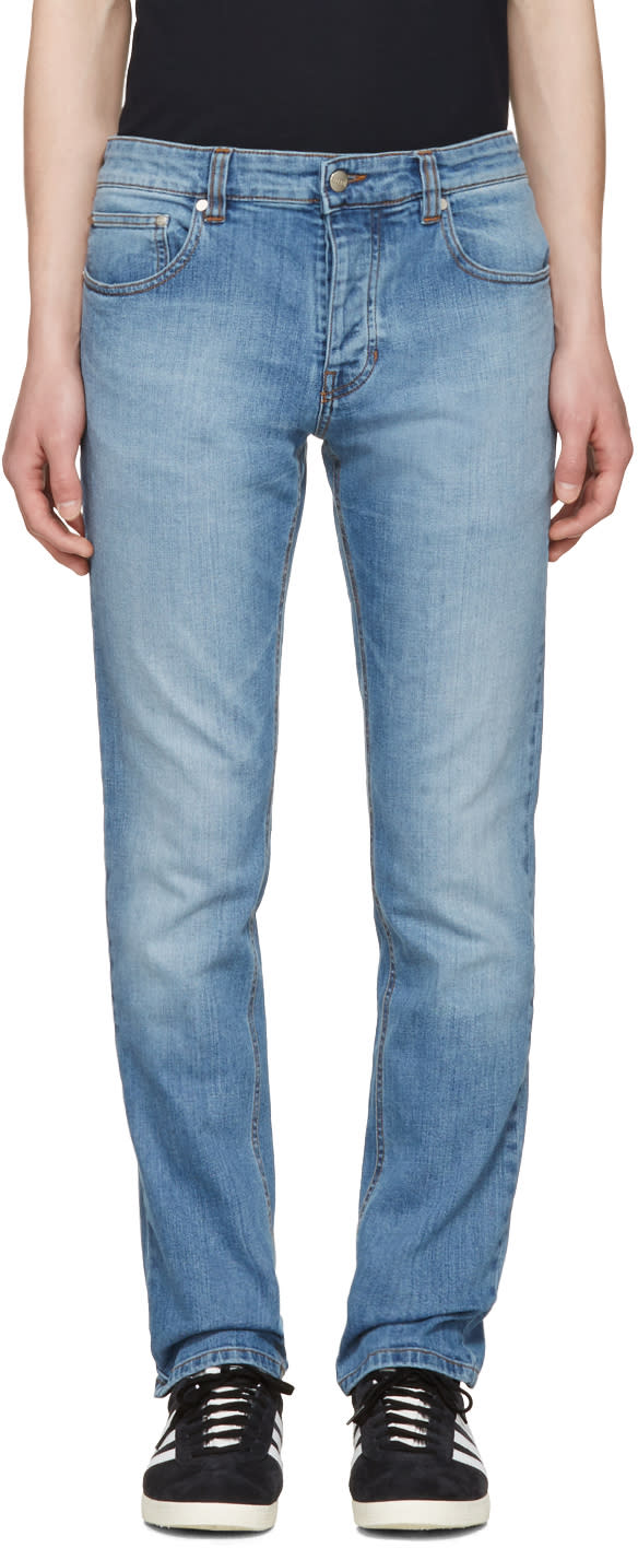Ami Alexandre Mattiussi Blue Slim Jeans