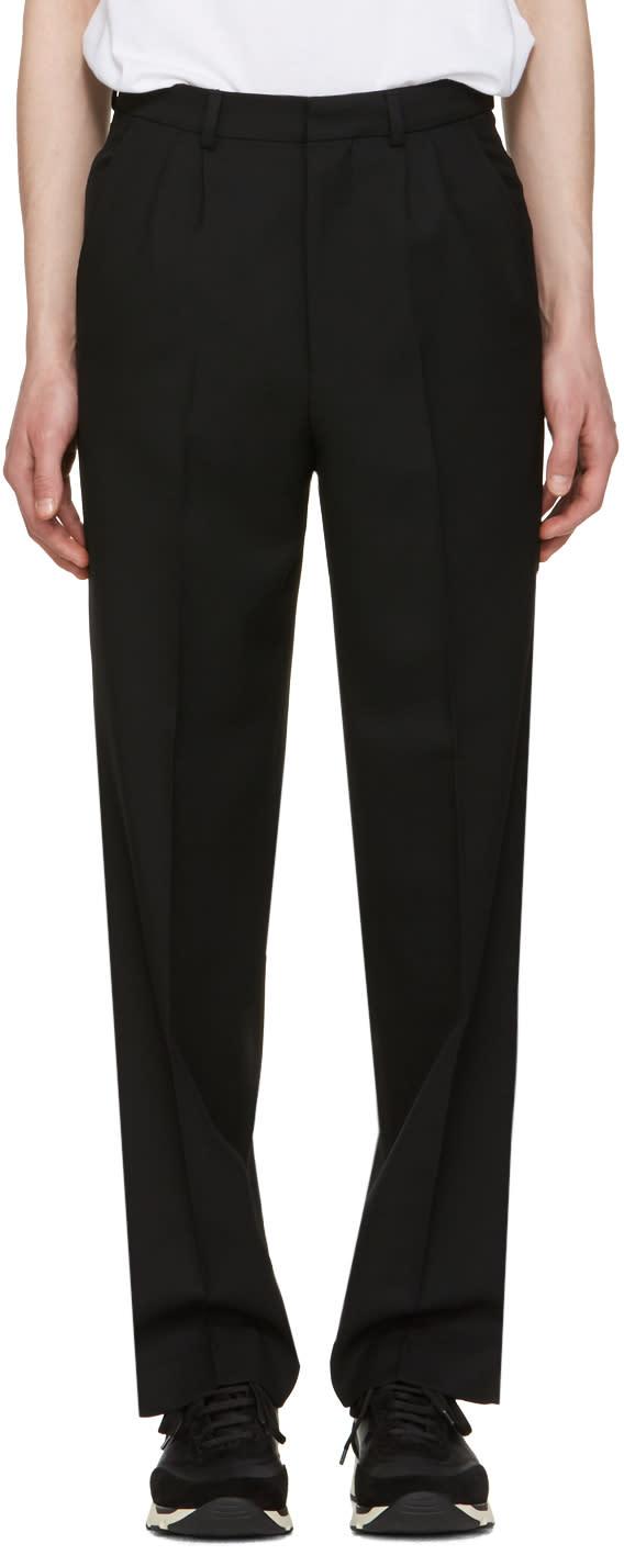 Ami Alexandre Mattiussi Black Wool Twill Trousers