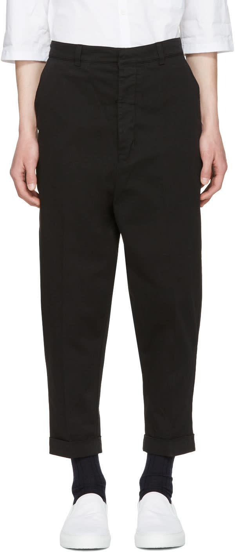 Ami Alexandre Mattiussi Black Oversized Carrot Trousers