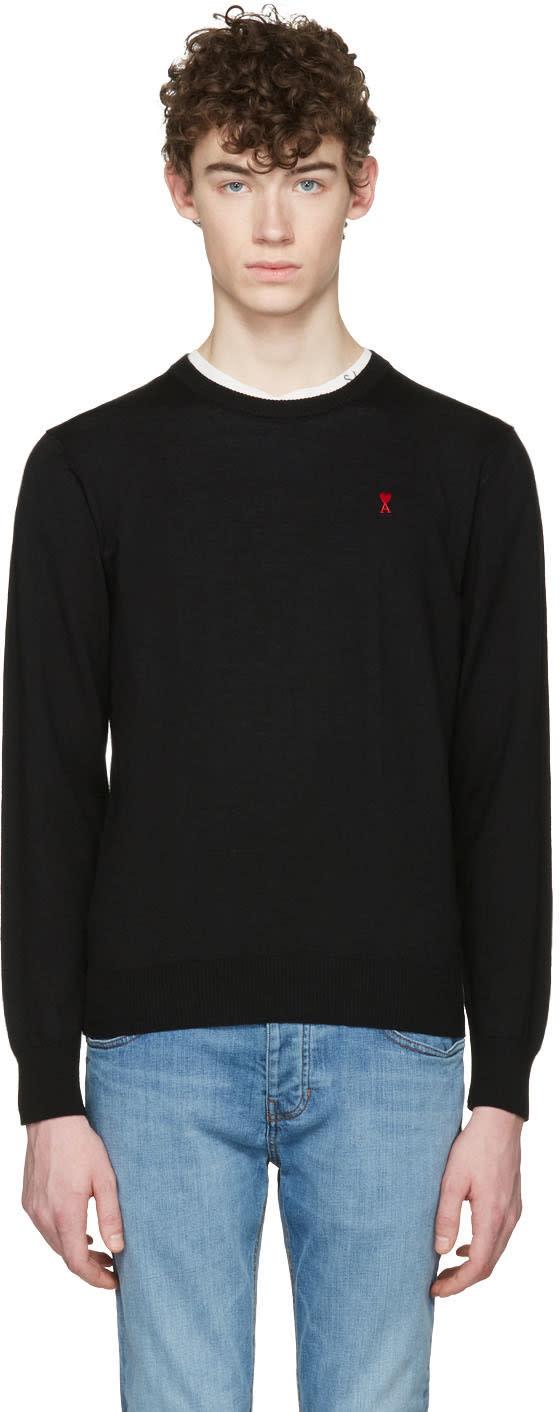 Ami Alexandre Mattiussi Black Ami De Coeur Sweater