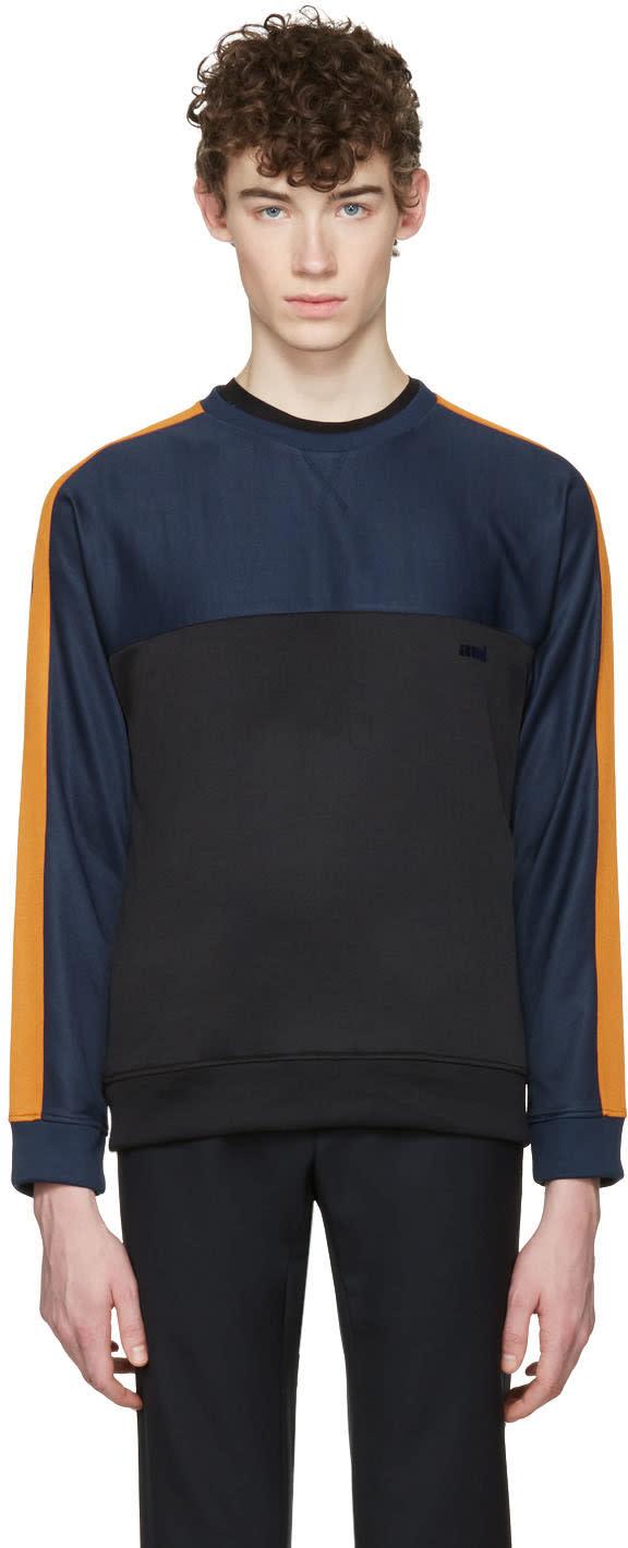 Ami Alexandre Mattiussi Tricolor Panelled Pullover