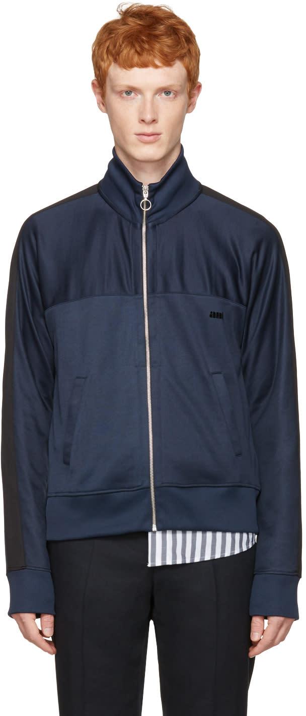 Ami Alexandre Mattiussi Navy Track Zip-up Pullover