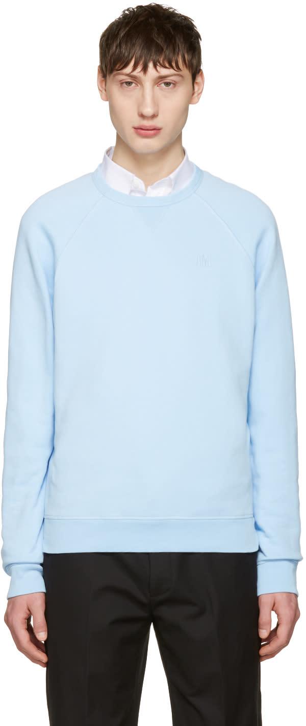 Ami Alexandre Mattiussi Blue Logo Pullover