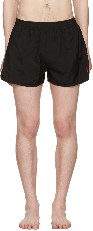Ami Alexandre Mattiussi Black ami De Coeur Swim Shorts