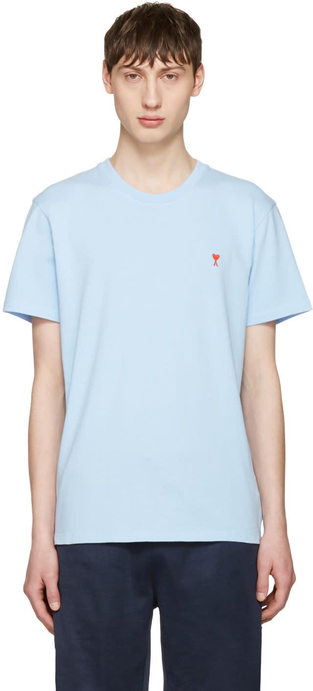 Ami Alexandre Mattiussi Blue ami De Coeur T-shirt