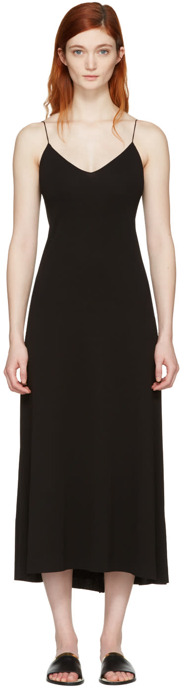 Image of Calvin Klein Collection Black Elsie Slip Dress