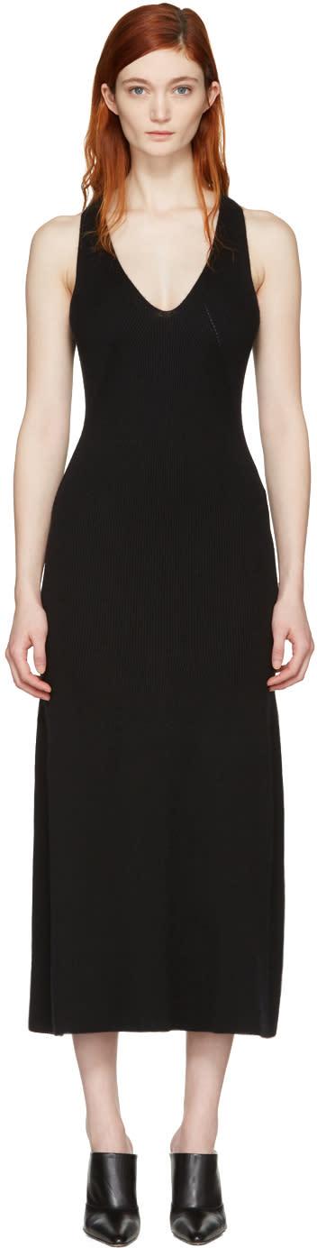 Calvin Klein Collection Black Knit Escot Dress