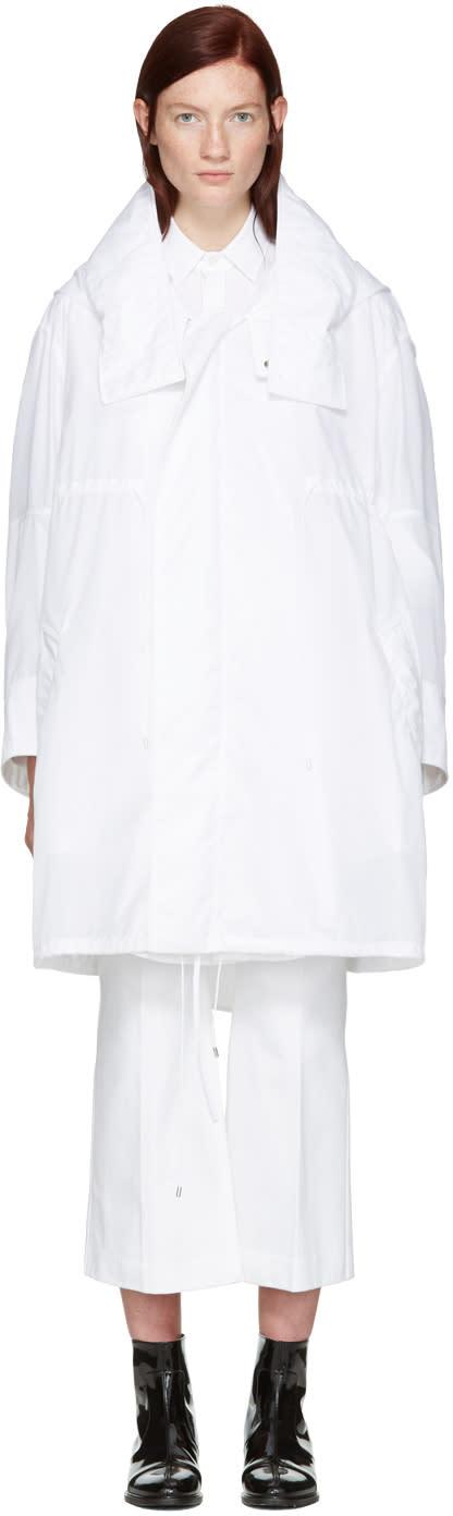 Calvin Klein Collection White Oversized Kempton Parka
