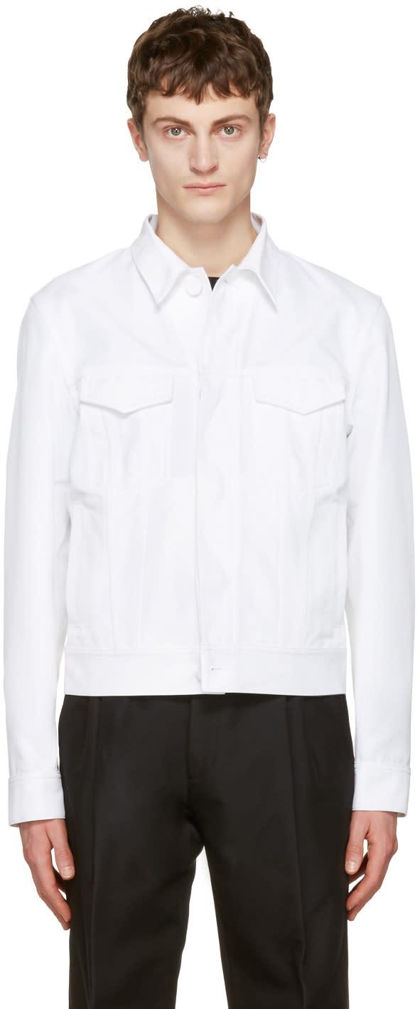Calvin Klein Collection White Richmond Jacket