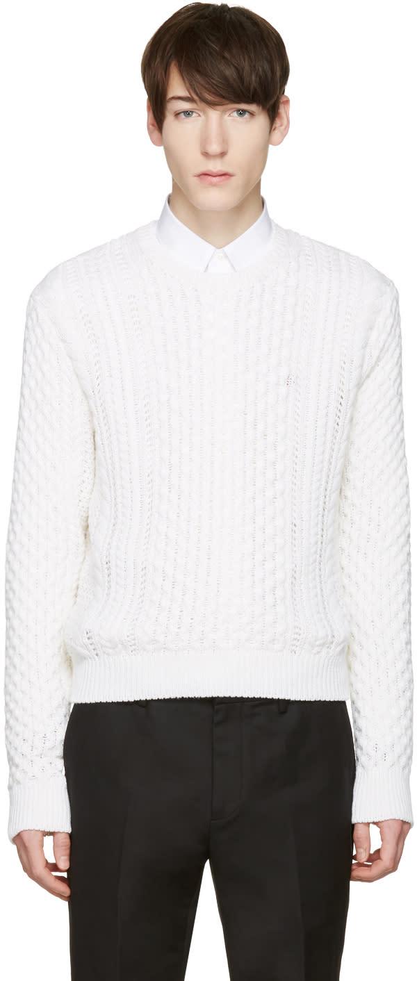 Calvin Klein Collection White Peder Sweater