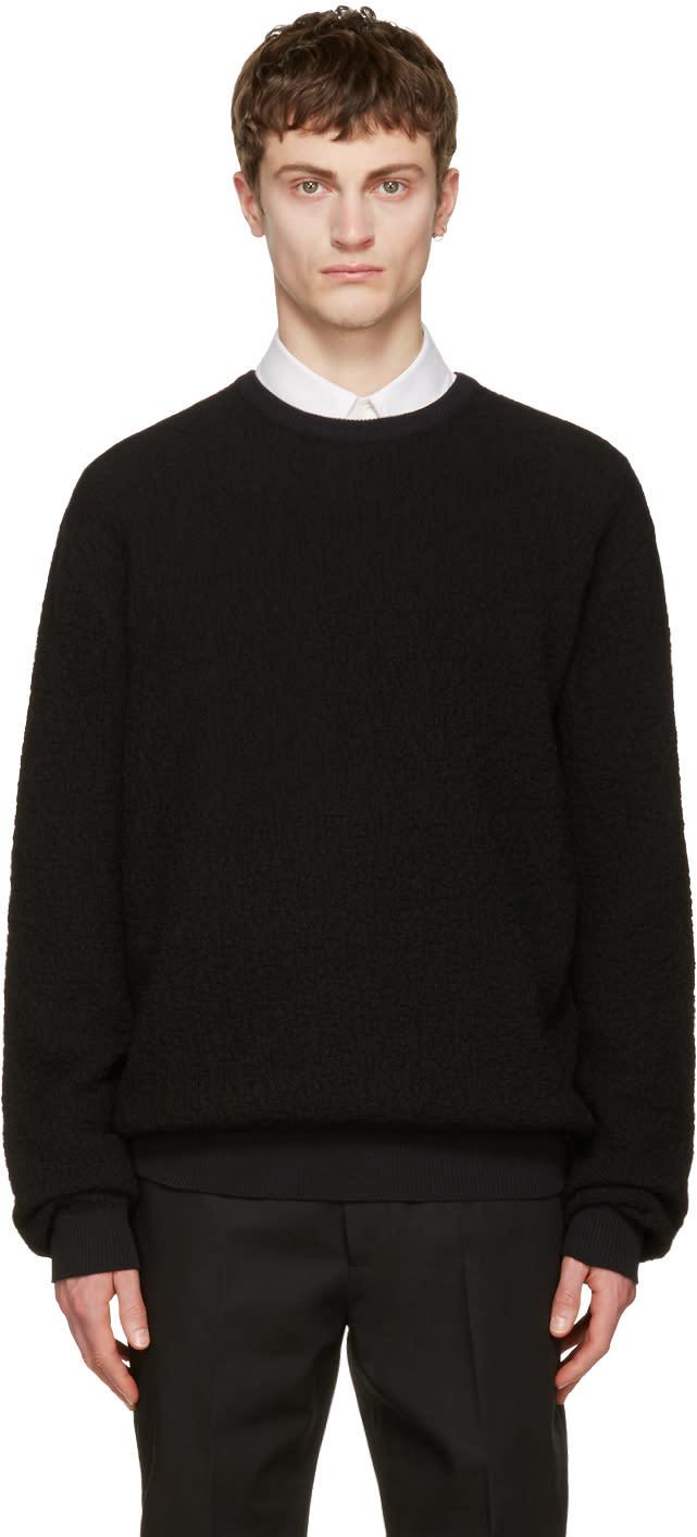 Calvin Klein Collection Black Textured Sweater