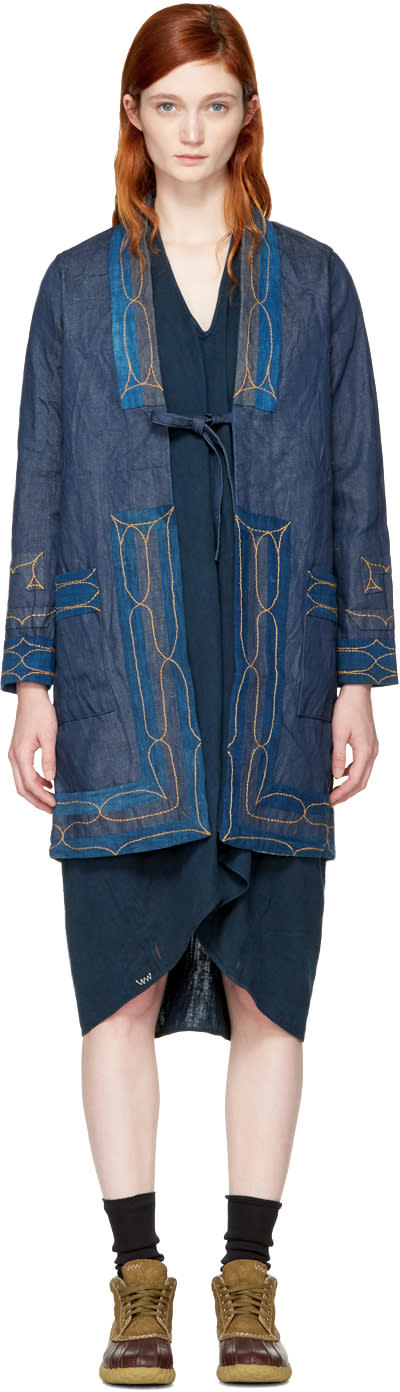 Visvim Blue Denim Ruunpe Coat